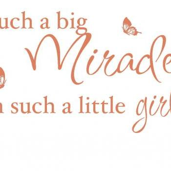 Big Miracle Vinyl Decal UK Seller